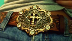 belt buckle~ (NeverGrowingUp) Tags: belt big cross pants country western 365 buckle jeweles