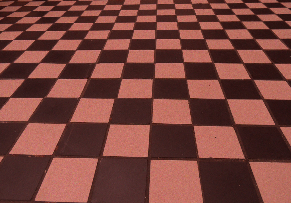 Red Checkered Floor Texture