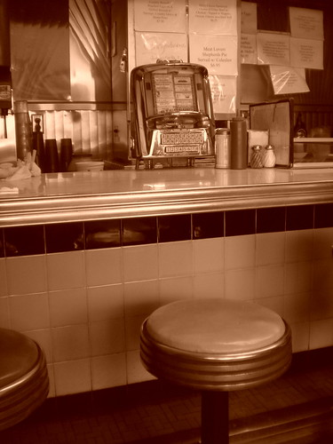 Blue Benn Diner counter seat