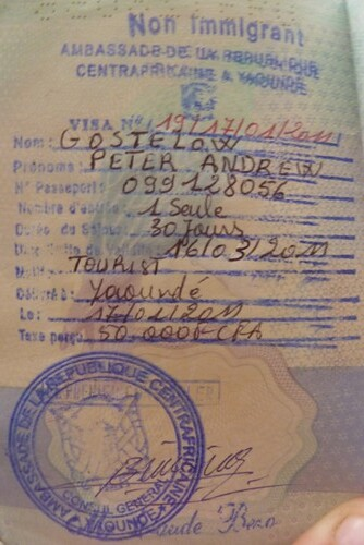 Central Africa Republic visa