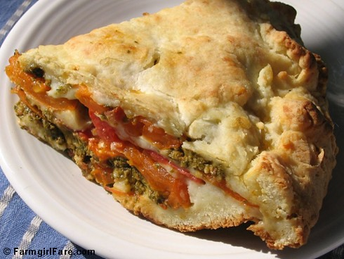Savory Tomato Basil Pesto Pie with Foolproof Biscuit Crust