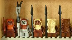 Ewoks (Legoholik) Tags: starwars all lego chief ewok collection complete wicket chirpa 7139 8038 paploo