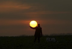 sunset on a cabbage field (Timoleon Vieta II) Tags: sunset woman love selftaught separation timoleon artistictreasurechest sunsetonacabbagefield