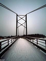 Encore un pont  traverser (AnJoLiE1234) Tags: bridge winter snow cold hiver pont neige bro brcke mygearandme mygearandmepremium mygearandmebronze mygearandmesilver mygearandmegold