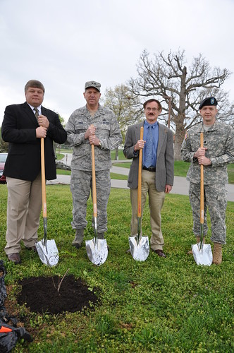 Boone National Guard Center chestnut tree ceremony