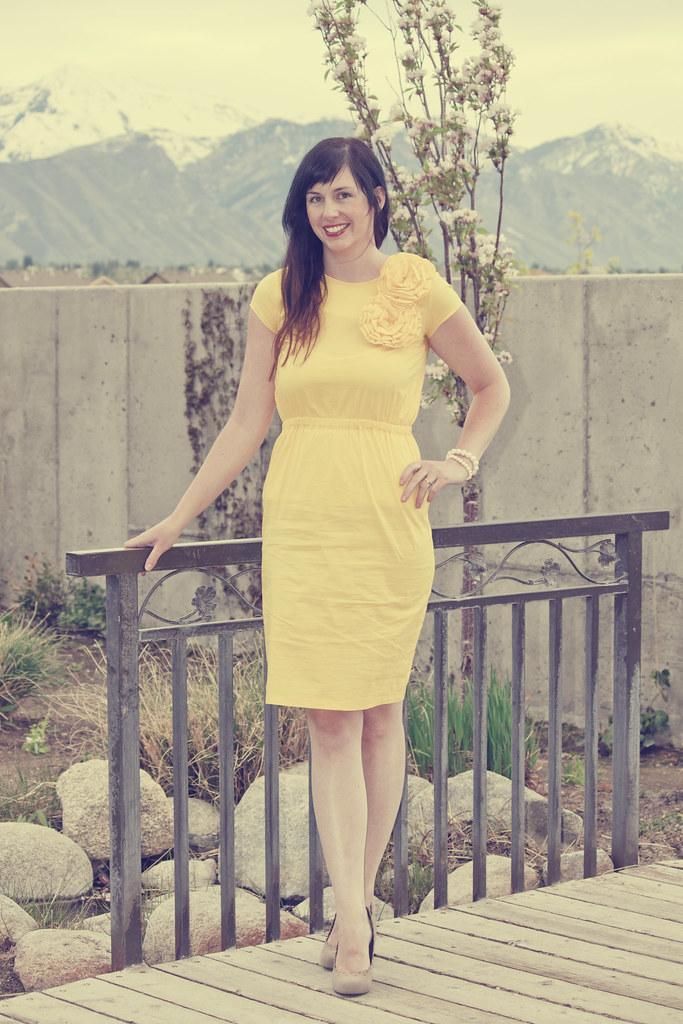 shabby apple yellow dress
