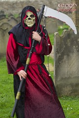 IMG_1732 (Neil Keogh Photography) Tags: red male graveyard skull mask gown grimreaper scythe whitbygothweekend