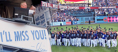 A salute to greatest announcer of all time and a goodbye hug to the team. (classymis) Tags: classymis vin vinscully dodgers losangelesdodgers baseball salute goodbye