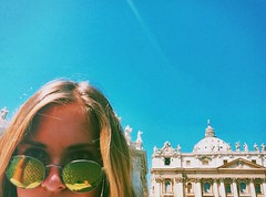 IMG_6361 (miabonanno1) Tags: rayban ital italy rome architecture girl blonde bluesky blue green selfie