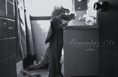 Ruckus (taylormackenzie) Tags: baby toddler son boy child kids dragon costume halloween black white monochrome nikon bathroom light sink cute tail wings ruckus remember me photography north carolina doorknob tile shower curtain playful innocent little small
