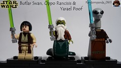 Butlar Swan, Oppo Rancisis & Yarael Poof (Random_Panda) Tags: star wars films film movie movies tv show shows television lego figs fig figures figure minifigs minifig minifigures minifigure purist purists character characters jedi oppo rancisis yarael poof butlar swan the attack of clones
