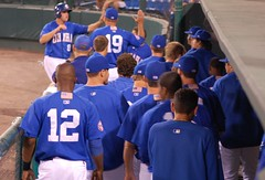 High fives for Moose (Minda Haas) Tags: baseball highfive omaharoyals milb mikemoustakas