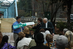 Presenting Cecil Alexander with a Commemorative Sign