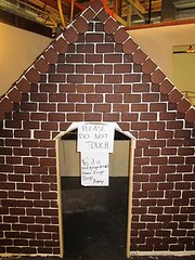 the massive gingerbread house created by the bakers at Sweet Escape