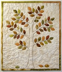 Ruska Quilt (PatchworkPottery) Tags: tree leaves quilt handmade crafts mini patchwork applique wallhanging