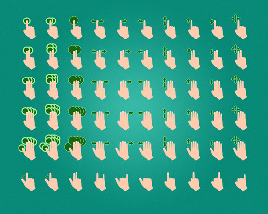 Gesture Icons by Afovea