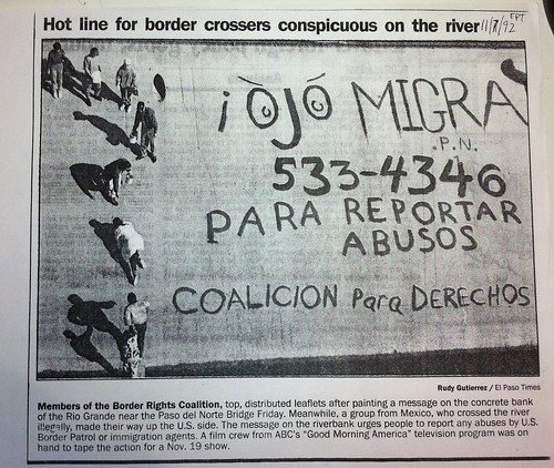 El Paso Times story on our graffiti on Rio Grande