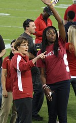Tara VanDerveer and Chiney Ogwumike