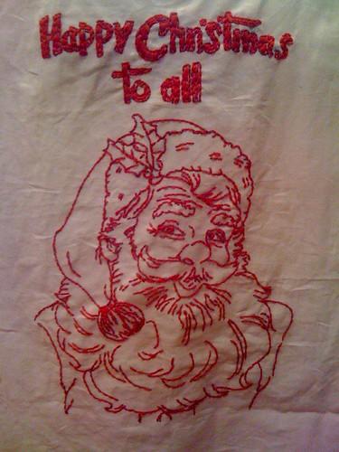 Redwork Santa- November 2010