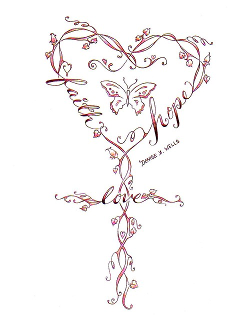 Tattoo Design Faith Hope And Love Tattoos