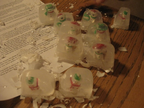 snowglobe soap