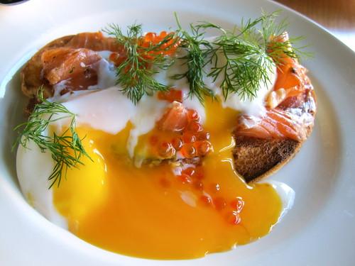 Eggs, salmon pastrami