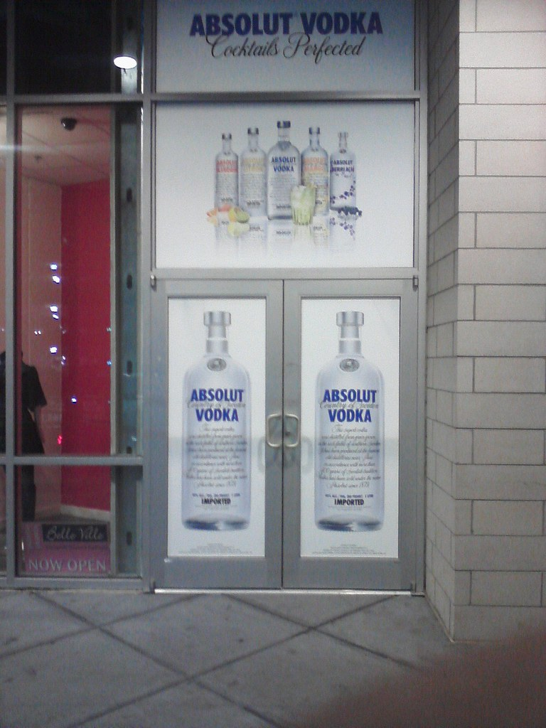 Absolut Vodka Door Wrap