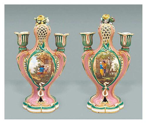 003-Par de candelabros 1759-Porcelana de Sèvres-decorados por Charles-Nicolas Dodin-©J. Paul Getty Trust