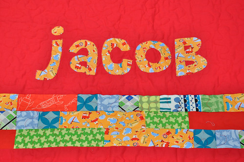 Jacob's quilt - back detail
