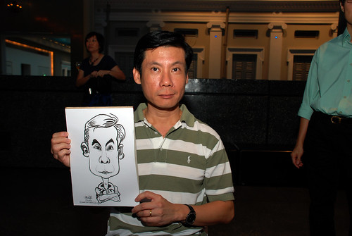 Caricature live sketching for Autism Association(Singapore)- Staff Dinner 2010 - 2