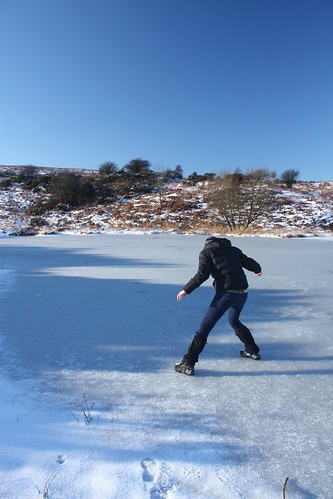 Me on the ice action shot