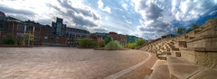 A wide view (Sean Sebastian) Tags: city summer portrait building clouds lens outdoors photography nikon downtown kentucky center panoramic tokina ali software louisville nik 1224mm f4 hdr muhammed tonemapped d300s