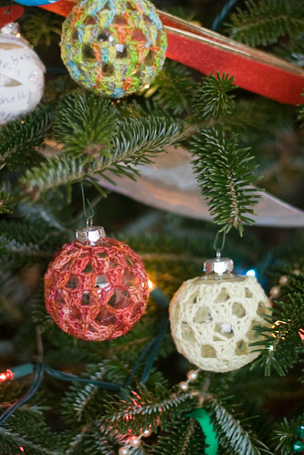 crochet bobble ornaments