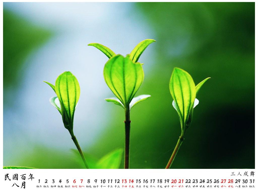 2011 桌曆4 8月