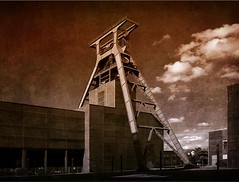 rework of a photo of Zeche Zollverein (coal mine) in Essen (- Carsten -) Tags: