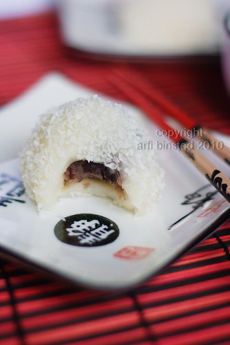 Mochi with Red Bean Paste filling