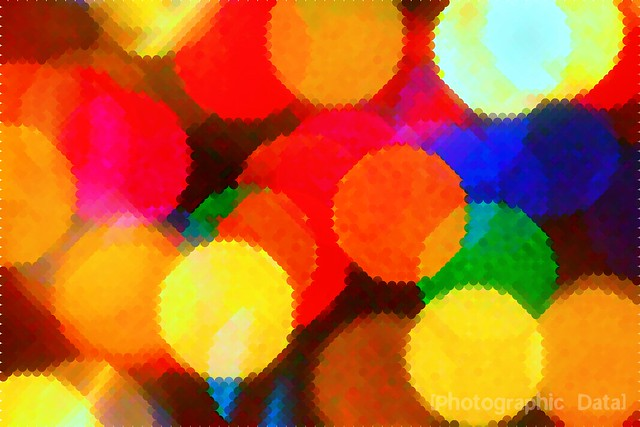 holiday bokeh dots