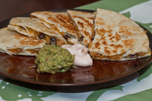 Chicken and Bean Quesadilla