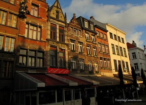 Colourful buildings in Antwerp, Belgium