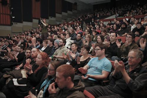 Cinema Politica crowd at Concordia