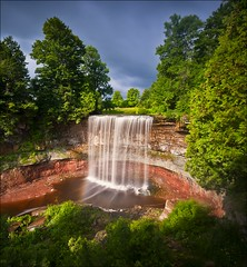 Same stop with the Big Stop - Indian Falls (Nathan Bergeron Photography) Tags: longexposure summer sky sun ontario canada water waterfall nikon rocks niagara marsh nikkor owensound plunge niagaraescarpment nikkorlens 1635mm indianfalls leefilter nikond700 10nd thebigstopper nikon1635mm
