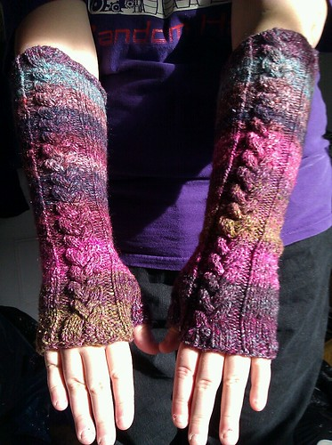 finished armwarmers