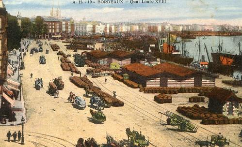 Bordeaux, le quai Louis XVIII