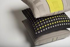 15 squares, fairisle and rib (leeana.edwards) Tags: knitted cushionsknittedleeanaedwardsurbantextilecomfortzone leeanaedwards