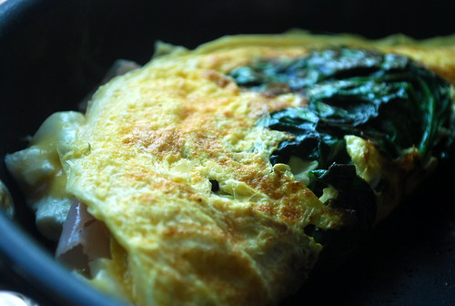 Egg White, Spinach and Goat Cheese Omelet
