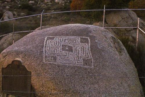 Shamanism Field Trip - Maze Stone Petroglyph in Hemet