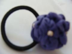 COLET CON HORTENSIA (PAREMI) Tags: tiara adorno mujer flor fuxico diadema collar pelo tela tecido kanzashi alfiler cintillo