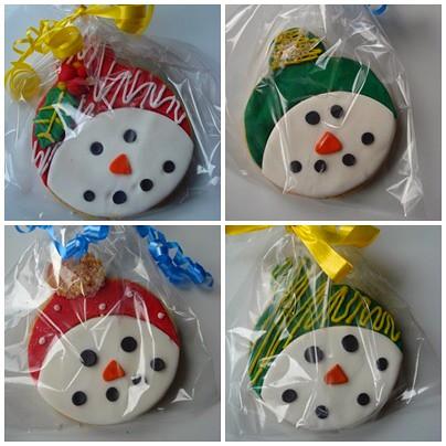 snowman cookie 3