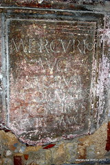 the Romans were here..... (Marlis1) Tags: spain latin catalunya tortosa romans inscription baixebre writtenword marlis1 dertosa canoneos1000d romanepigraphy mercurioaugusto