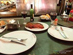 Streak Lunch at Mercado del Puerto - Montevideo, Uruguay (uncorneredmarket) Tags: food uruguay meat steak montevideo redwine dpn grilledmeat mercadodelpuerto portmarket ciudadviejamontevideo